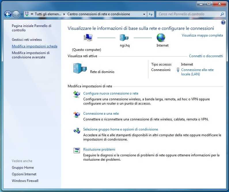 rete dinamica dhcp windows 7