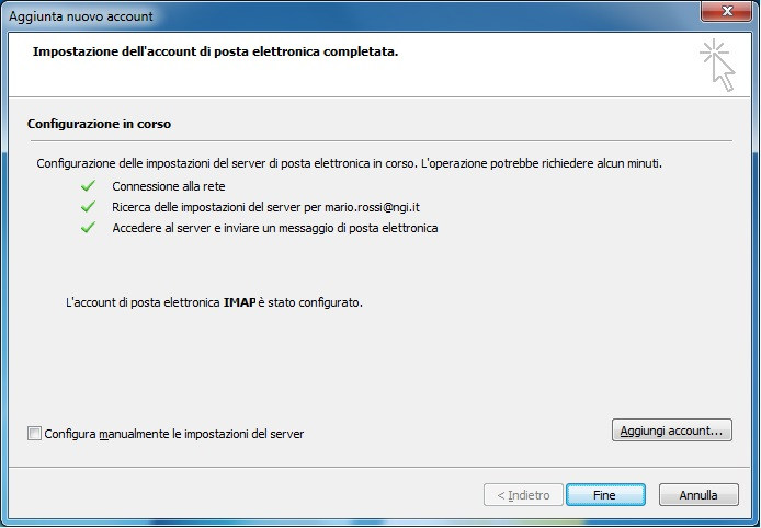 configurare email outlook
